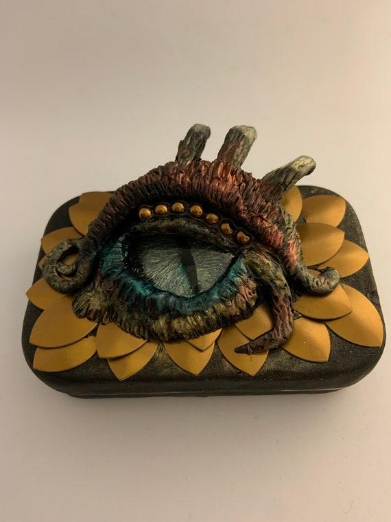 Polymer Clay'Dragon Eye' Tin Box