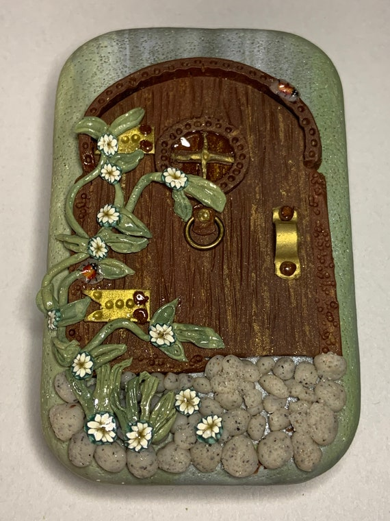 Polymer Clay 'Fairy Door' Tin