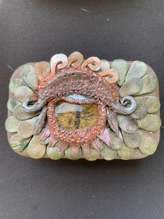 "Polymer Clay ""Dragon Eye ""Tin Box"