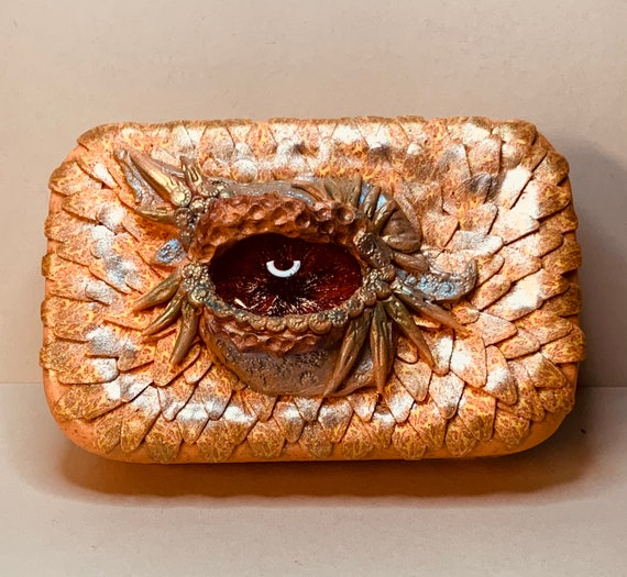 Polymer Clay 'Dragon Eye' Tin Box