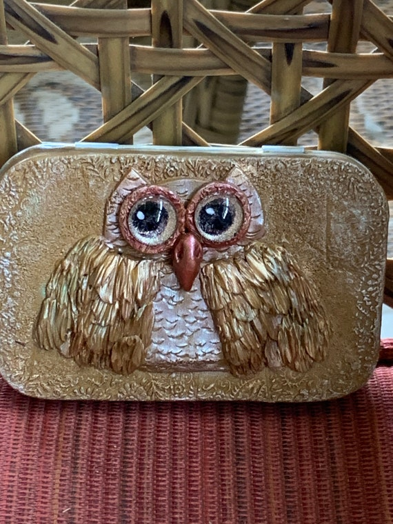 "Polymer Clay ""Owl"" Tin Box"