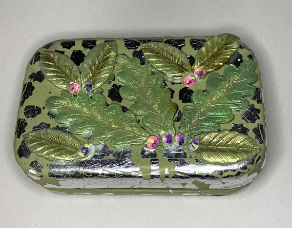 Polymer Clay 'Leaves' Tin