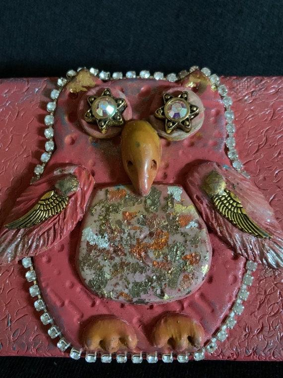Polymer Clay Owl Tin Box