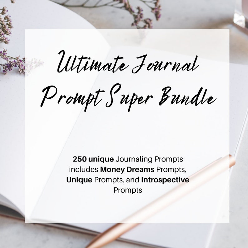 Journaling Prompt Master Bundle  250 prompts image 0