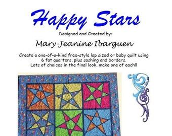Happy Stars Quilt PDF Pattern