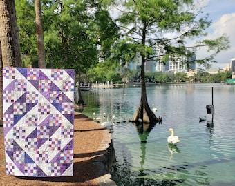 Purple Dreams Modern Handmade quilt