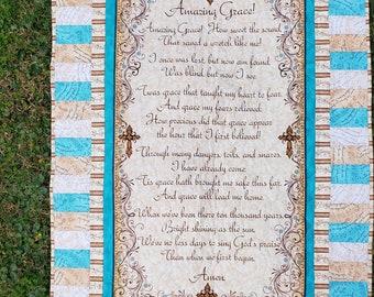 Amazing Grace Song/Prayer Handmade Wall Hanging