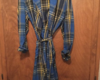 vtg 50s 60s NOS NWOT Penneys Towncraft Galey /& Lord Plaid Belted Robe Pajamas M
