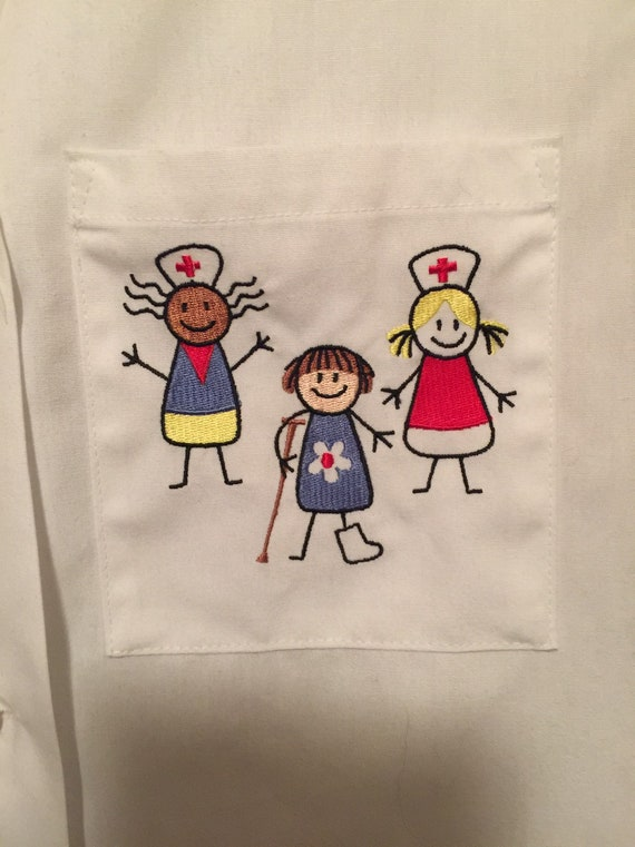 Vintage Angelica Nurse Smock White Nursing Vest Ch