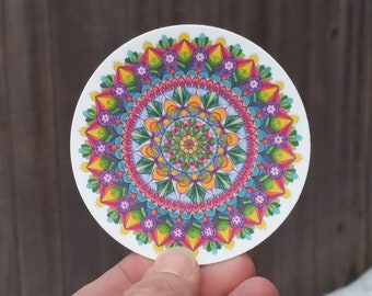 Pen and Ink Mandala Sticker