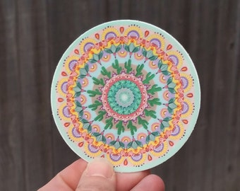 Pastel Cactus Mandala Sticker