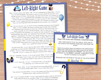 baby shower game printable left right game instant print baby officer left right baby shower game instant download party game