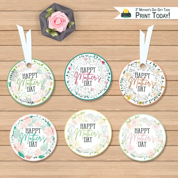 Printable Happy Mother's Day 2 Round Tags