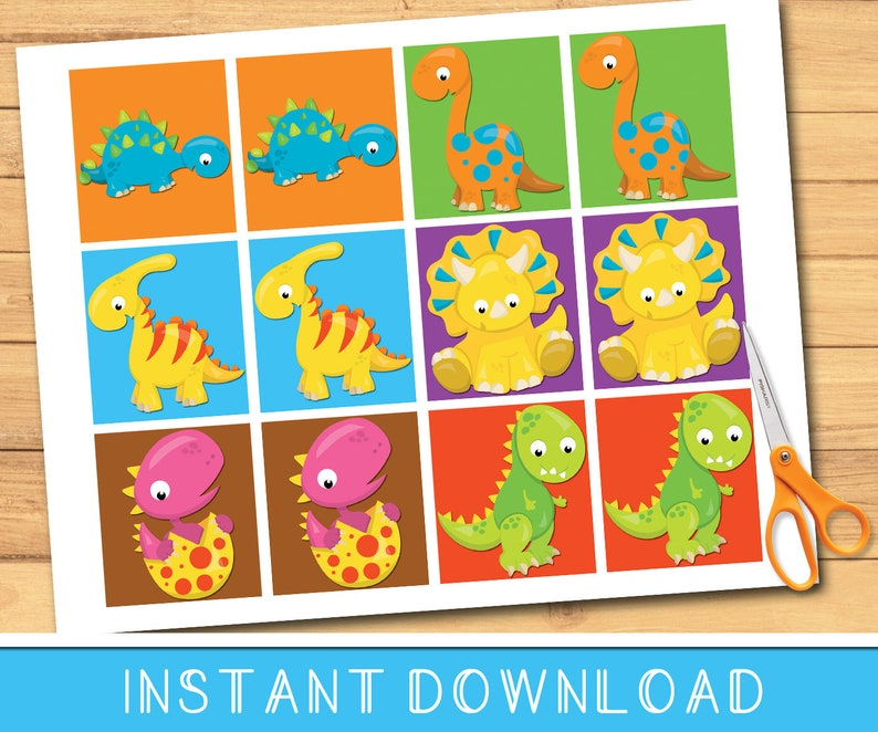 image regarding Dinosaur Matching Game Printable identify Dinosaur Infants Matching Memory Sport Printable / Instantaneous Down load / Schooling Discovering Resource / PreK Kindergarten Household University Prompt Print