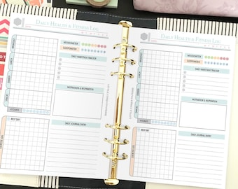 Printable Health and Fitness Planner - Fitness Planner - Fitness Plan - Health and Fitness Planner - Fitness Journal - Instant Download