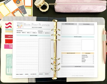 Ultimate Blog Planner - Ultimate Blog Planning Kit - Social Media Planner - Blog Planner - Blog and Social Media Kit - Instant Download
