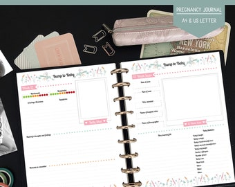 The Ultimate Pregnancy Journal - Printable Pregnancy Journal - Bump to Baby book - Pregnancy Planner - Instant Download
