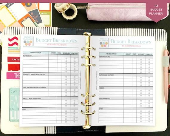 printable budget planner budget planner book finance etsy