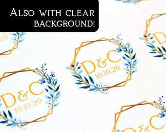 Envelope Seal, Custom Sticker, Personalized Stickers, Wedding Stickers, Thank You Stickers, Bridal Shower Stickers, D11