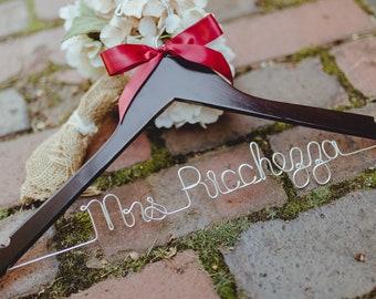 Bride Hanger, Wedding Hanger, Personalized Hanger, Bridal, Wedding Dress Hanger, Custom Wire Hanger, Mrs Hanger, Name Hanger