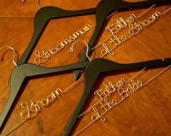 Groom Hanger, Custom Hanger, Mr Hanger, Bride Hanger, Mrs Hanger, Groomsman Hanger