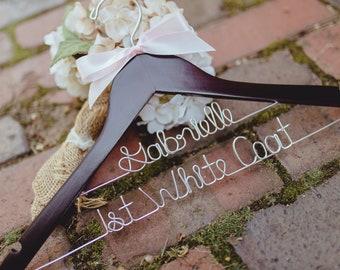 First White Coat Hanger, 1st White Coat, Pharmacist Gift, Custom Wire Hanger, Doctor Gift, White Coat Ceremony, PA Gift, Wedding Hanger