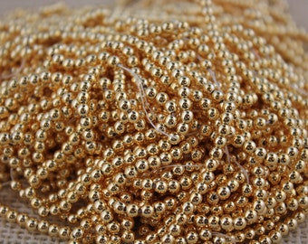 Gold 3mm Beads Excellent Quality (Made in Japan) (100 pieces)
