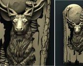 Deer, Deer Decor, Wood Ca...