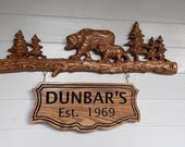 Bear Family Name Sign ~ W...