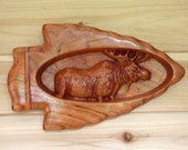 Moose Wood Carving inside...
