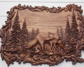 Wolf Carving, Animal Wood Carving, Wolf Wall Art Wall Hanging, Hunter Cabin Decor, Wolf Carved on Wood Wall Hanging, Gift for Wolves Lovers