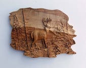 Deer Wall Art, Deer Rusti...