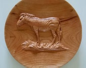 Wood Carved Zebra 2-sided...