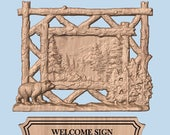 WOOD WALL ART Bear Signs ~ Bear Cabin Sign ~ Personalized Family Name ~ Est. Name & Date ~ Rustic Wood Sign ~ Outdoor Family Name Signs
