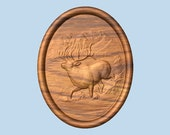 Elk Wood Carving, Mantle Decor, Wood Carving, Wood Sculpture, Elk Gift for Groomsmen, Elk Carving, Elk Wood Wall Art, Wood Anniversary Gift