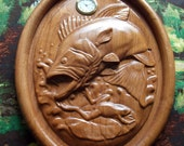 Large Mouth Bass Clock, W...
