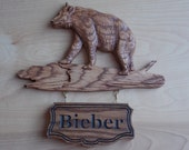 Bear Family Sign ~ Rustic Cabin Decor Bear ~ Wood Bear Wall Decor ~ Bear Wood Carvings ~ Bear Cabin Decor ~ Rustic Bear ~ Log Cabin Art