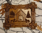 Wood Wall Art ~ Dog Groomer Gifts, 3D Wood Carving Rustic Wall Hanging  ~ Cat Groomer Gift  ~ Custom Wood Carving