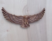Eagle Wood Carving, Wooden Eagle, Custom Wood Carving, Patriotic Decorations, Patriotic Wood Decor, Bald Eagle Wood Wall Art Decor, Eagle