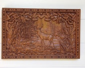 Elk Wood Carving ~ Rustic...