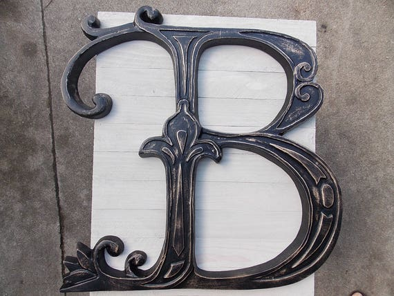 Wood Letter B Size 20 X 20 Inches Letter B Wall Decor Wooden Letter B Large Letter B Wood Carving Black Letter B Wood Wall Art Decor