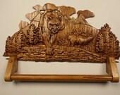 Wooden Towel Rack Cabin D...