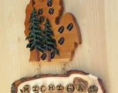 Michigan MI Wooden Cutout...