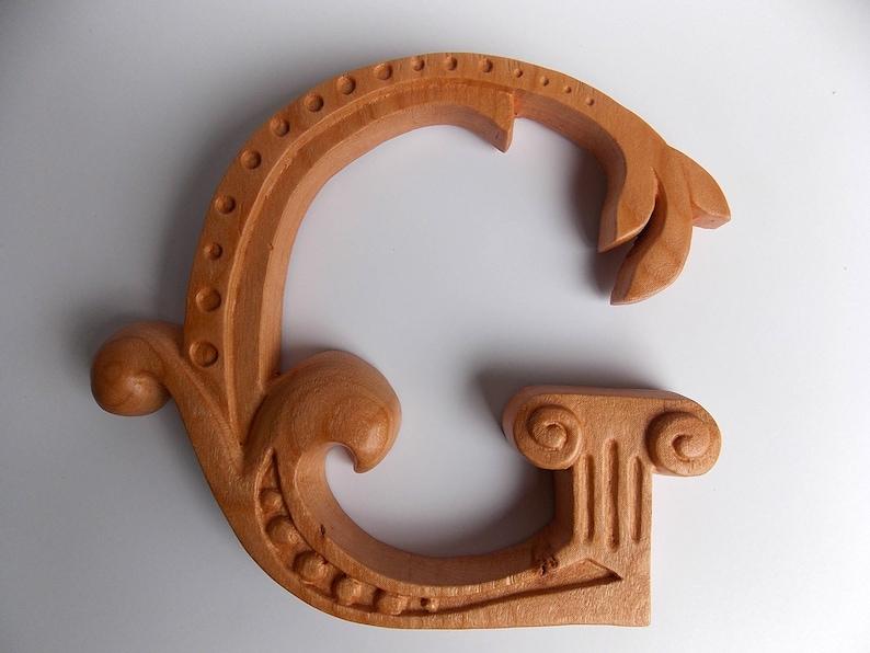 Wooden Letter G 6 20 Tall Wood Carved Letter G Wooden Letter Wall Decor Vintage G Initial Letter G Wood Decor Wood Nursery Letter