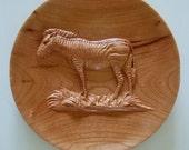Wood Carved Zebra 2-sided...
