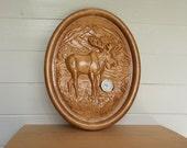Wall Clock Moose Decor, W...