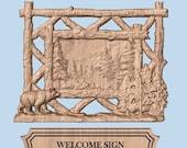 WOOD WALL ART Bear Signs ...