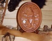 Wildlife Wall Clock, Rust...