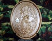 Trout Wood Wall Clock ~ W...