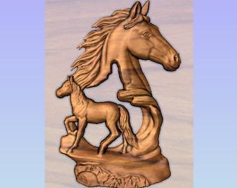 Horse Head Wood Carving, Horse Decor, Horse Statue, Equestrian Wood Wall Art, Equestrian Decor